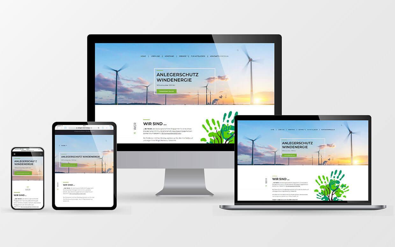 Webseiten des Anlegerschutzvereins AWE e.V. in Berlin