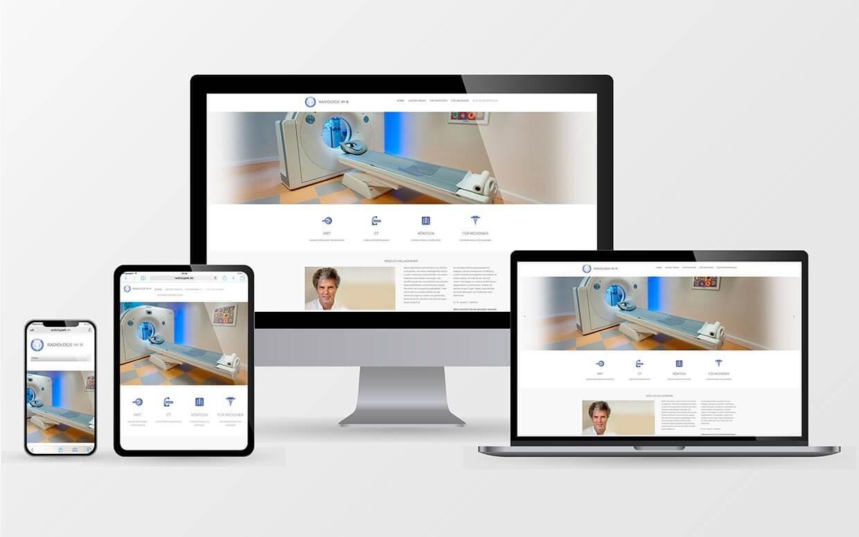 Webseiten der Radiologie im Israelitischen Krankenhaus in Hamburg